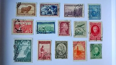 Collection Of Used Vintage Stamps From Argentina.