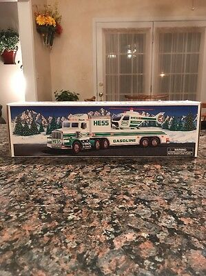 1995 Hess Toy Truck And Helicopter Brand New In Box
