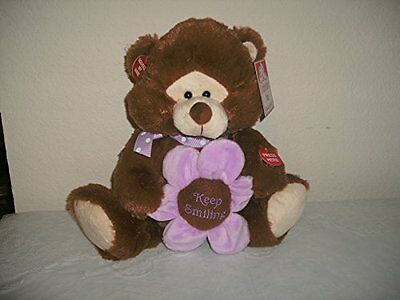 """Singing Plush Violet Bear Sings """"Thats What Friends Are For"""" with Gift Bag"""