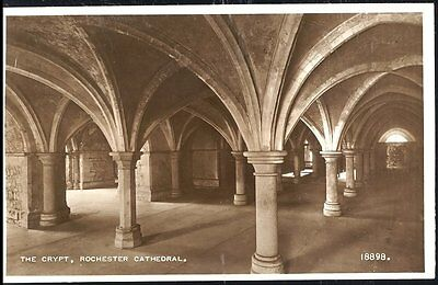 Postcard The Crypt Rochester Cathedral