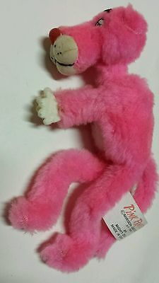 Vintage 1980's Pink Panther Clip Plush Doll