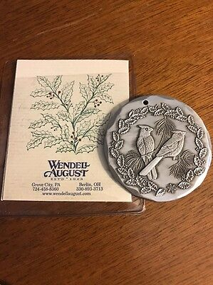 2003     Cardinals     Wendell August Forge    Aluminum   Christmas Ornament