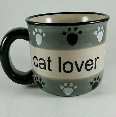 Cat Lover Coffee/Tea Mug - Paw Prints - Petrageous Design