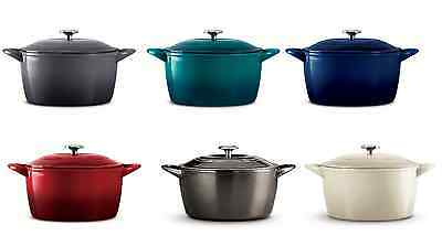 Tramontina Enameled Cast Iron 6.5 Qt Covered Round Dutch Oven Choose a color