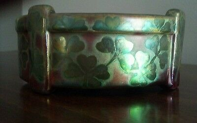 Beautiful Rare Weller Sicard Buttressed Bowl With Stylized Clover.