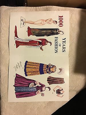 1000 Years of Fashion by Brenda Sneathen Mattox, 2000 Mag. Paper Doll