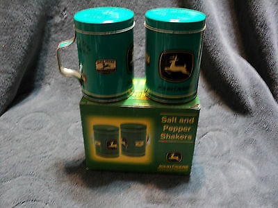 John Deere Tin Salt and Pepper Shakers