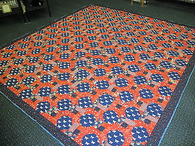 Authentic Amish Handmade Queen/King Quilt 100 x 110 Signed/Dated, Dundee, Ohio