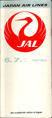 JAL Japan Air Lines system timetable 6/73 [6092]