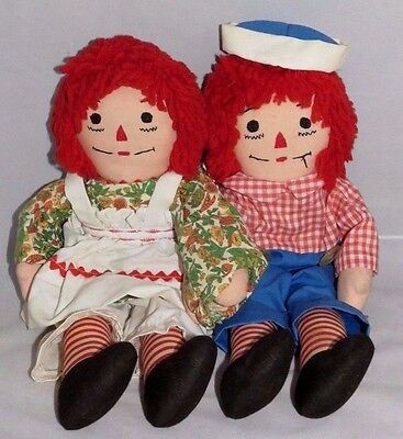 Raggedy Ann and Andy Doll Set