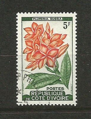 Cote D'ivoire 5F Flower Used Stamp