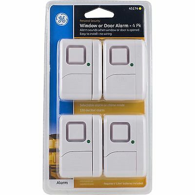 NEW factory sealed GE 45174 Magnetic Indoor Window Alarms (4 pk)