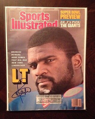 Lawrence Taylor Autographed Signed Sports Illustrated SI Magazine Giants