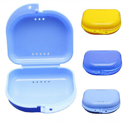 Dental Orthodontic Retainer Denture Storage Case Box Mouthguard Container Trays