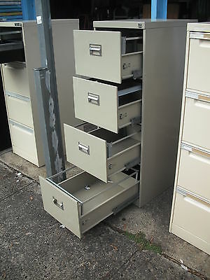 Clean*strong*smooth Drawers*namco*4 Drawer Steel Office Filing Cabinet + Key