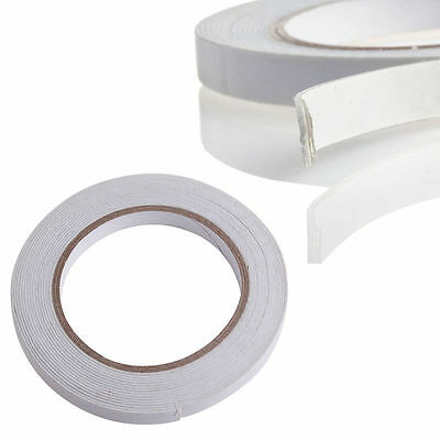 White 5m Double Sided Strong Sticky Self Adhesive Foam Tape Mounting Fixing Pad
