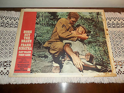 """1965 Warner Bros. """"None But The Brave"""", Starring Frank Sinatra, Lobby Card"""
