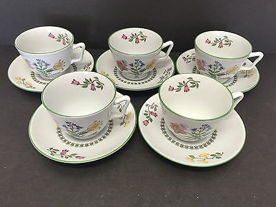 5 Perfect Spode Summer Palace England Cup And Saucer Sets