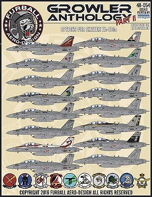 1/48 Furball EA-18G Growler Anthology Part II decals for the Hasegawa kit