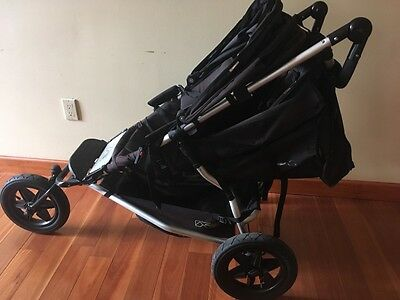 Mountain Buggy Plus one Black Travel System Double Seat Stroller