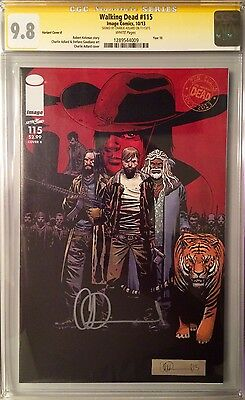 The Walking Dead #115 K SS CGC 9.8 Signed by Charlie Adlard AMC Year 10 Cover
