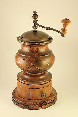 Vtg Antique Wooden Coffee Grinder Pepper Mill Italy Made Moulin Cafe Kaffeemühle