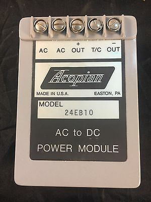 ACOPIAN 24EB10 AC TO DC POWER MODULE Multiple Available Used (A5)