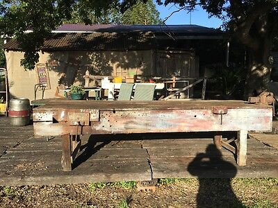 Rustic old work bench