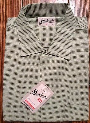 RARE New Old Stock Boy's Stephens BY DEE CEE  50's Plaid Shirt Sz 16 Deadstock