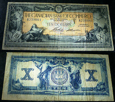 1917 $10  BanK Of Commerce ,Canada Chartered BANKNOTE- CH-715-16-04-12a