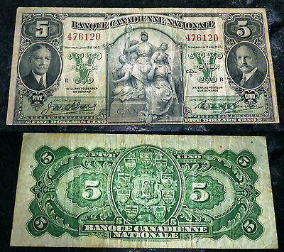 1935 $5 Banque Canadienne Nationale  - Ch-85-14-02