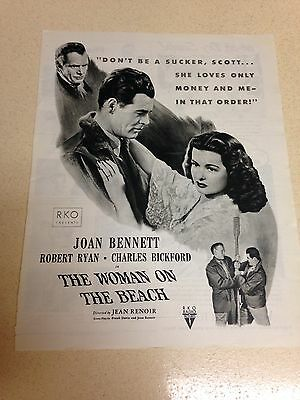 """1947 LARGE Vintage Ad The Woman On The Beach Movie 10""""X13"""""""