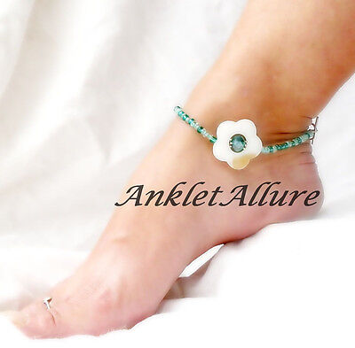 Anklet Shell Beach Flower Ankle Bracelet Resort Cruise Vacation Body Jewelry