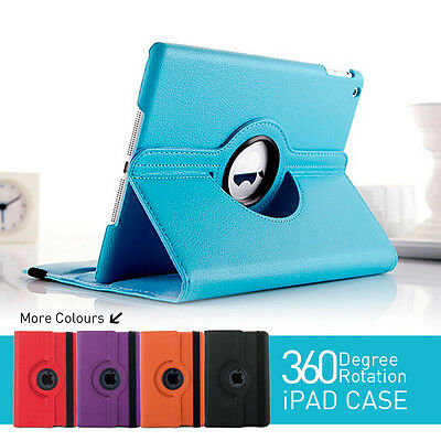 iPad 234 / Pro / Mini / Air Rotating Leather Smart Cover Case for Apple