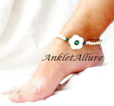 Beach Anklet Shell Flower Ankle Bracelet Cruise Resort Vacation Body Jewelry