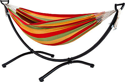 Oztrail Double Anywhere Hammock With Frame Stand Set Camp Camping Bedding Relax