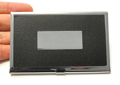 New Stainless Steel Pocket Business Name Card ID Card Holder Box Metal Box Case