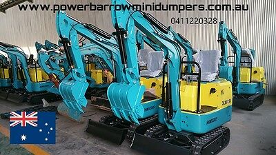 Excavater mini diesel  Xno8 attachments and hammer package