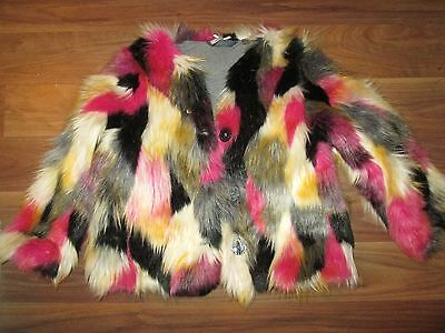 Next Lovely Lined Faux Fur Coat Age 5 Years