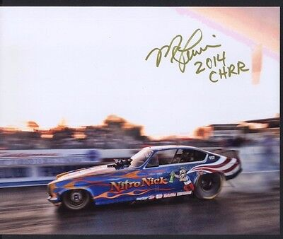 Mike Lewis Nitro Nick Nostalgia Funny Car autographed 8x10 photo