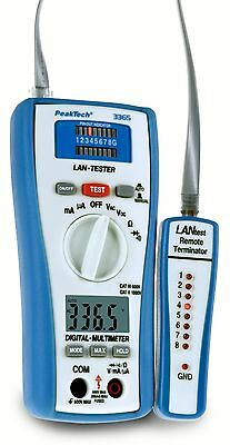 peaktech 3365 Cable Tester?R Network Test Digital Multimeter Tester CAT Cable