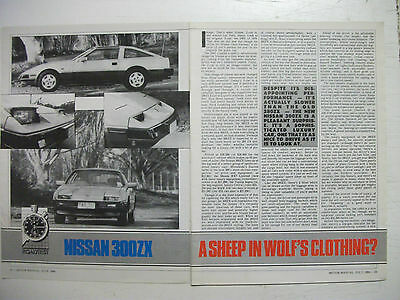 1984 Nissan 300Zx Complete 5 Page Australian Magazine Road Test