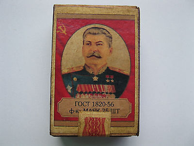 Old Wooden Stalin Match Sealed Unopened