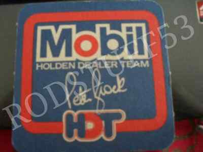 Holden Vk Vl Ss Hdt Mobil Peter Brock Drink Coaster [*new Nos*] Vb Vc Vh Vn