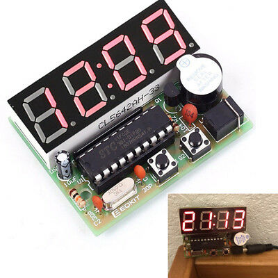 C51 Electronic Clock Electronic Production Suite DIY Kits 4 Bits for Practice
