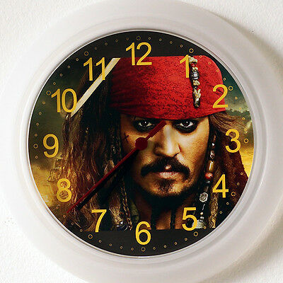 Captain Jack Sparrow Wall Clock NEW - 24cm Johnny Depp Pirate Christmas Gift