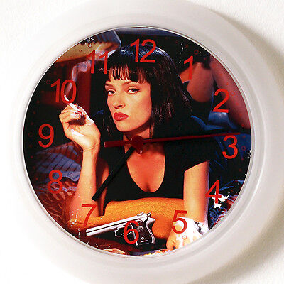 PULP FICTION Wall Clock - New 24cm movie Uma Thurmann Christmas Gift