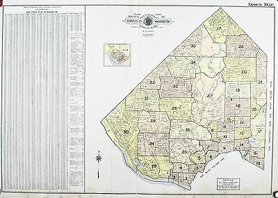Washington DC Upper NW Vintage Baist City Map 1960