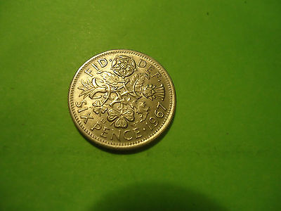 1967 English Six Pence               Combined Shipping
