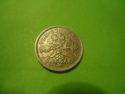 1964 English Six Pence               Combined Shipping
